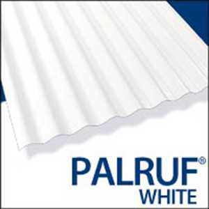 Palram Americas 101339 Palruf PVC Panel 12 ft x26 White