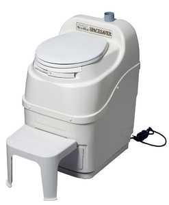 Sun-Mar Corp SPACESAVER WHT Spacesaver Electric Composting Toilet