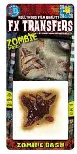 Tinsley Transfers Inc. FXTS-704 Zombie Gash Temporary Tattoo
