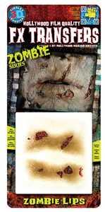 Tinsley Transfers Inc. FXTS-708 Zombie Lips Temporary Tattoo