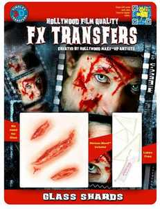 Tinsley Transfers Inc. FXTM-601 Glass Shards Temporary Tattoo