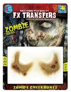 Tinsley Transfers Inc. FXTM-701 Zombie Cheekbones Temporary Tattoo