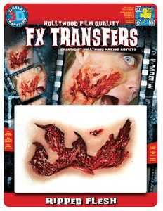 Tinsley Transfers Inc. FXTM-523 Ripped Flesh Temporary Tattoo