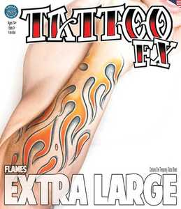Tinsley Transfers Inc. XL-700 Flames Temporary Tattoo