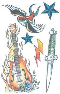 Tinsley Transfers Inc. CT-405 Rock Star Sold Our Souls Temporary Tattoo