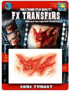 Tinsley Transfers Inc. FXTM-521 Sore Throat Temporary Tattoo