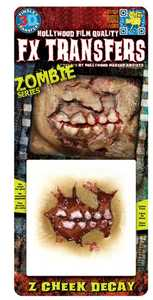 Tinsley Transfers Inc. FXTS-700 Zombie Cheek Decay Temporary Tattoo