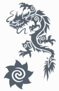 Tinsley Transfers Inc. TL-606 Tribal Dragon Temporary Tattoo