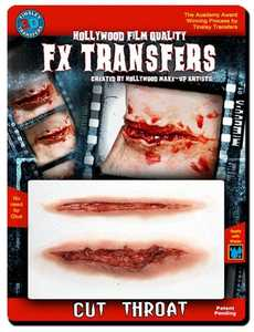 Tinsley Transfers Inc. FXTM-506 Cut Throat Temporary Tattoo