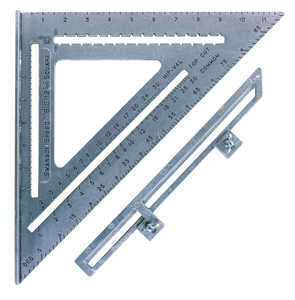 Swanson Tool Co S0107 The Big 12 Speed Square With Layout Bar