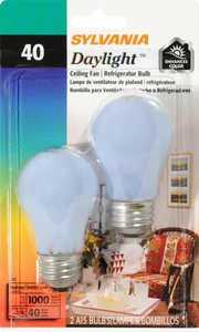 Sylvania/Osram/LEDVANCE 10181 40-Watt Fan Bulb Daylight 2 Pack