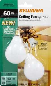 Sylvania/Osram/LEDVANCE 10777 60w Incandescent Bulb 60a 15 C/Sw/Fan/2/12/Bl