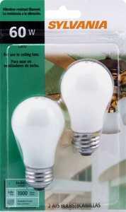 Sylvania/Osram/LEDVANCE 10885 60-Watt Fan Bulb White 2 Pack