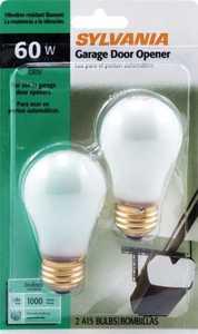 Sylvania/Osram/LEDVANCE 10886 60w Garage Door Bulb Reg Base 2 Pack