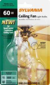 Sylvania/Osram/LEDVANCE 10894 60w Incandescent Bulb 60a 15 C/Cl/Fan/2/12/Bl B