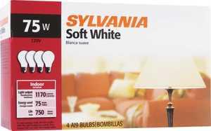 Sylvania/Osram/LEDVANCE 10970 75w Soft White Incandescent Bulb 4pk