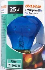 Sylvania/Osram/LEDVANCE 11710 25w Blue Incandescent Bulb Reg Base