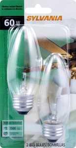 Sylvania/Osram/LEDVANCE 13368 60w Fan Flame Bulb Shape Reg Base 2 Pack