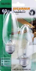 Sylvania/Osram/LEDVANCE 13370 60-Watt Fan Bulb Double Life Flame Rg Base 2 Pack