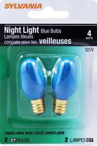 Sylvania/Osram/LEDVANCE 13556 4w Night Light Bulb Blue Small Base 2pk