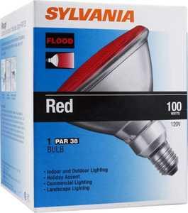 Sylvania/Osram/LEDVANCE 13933 100w Red Flood Bulb 100par/Fl/R/Rp
