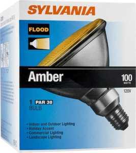 Sylvania/Osram/LEDVANCE 13934 100w Amber Flood Bulb 100par/Fl/A/Rp