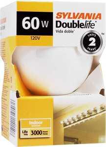 Sylvania/Osram/LEDVANCE 14150 60w Incandescent Globe Double Life White 3 In 1pk