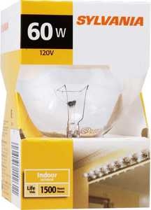 Sylvania/Osram/LEDVANCE 14261 60w Clear Incandescent Globe 3 In Reg Base