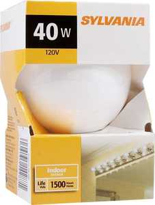 Sylvania/Osram/LEDVANCE 14287 40w White Incandescent Globe 3 In