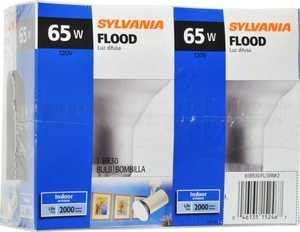 Sylvania/Osram/LEDVANCE 15246 65w Incandescent Bulb 65br30/2/24/Rp 2 Pack
