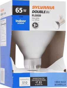 Sylvania/Osram/LEDVANCE 15332 65 Watt Br40 Reflector Double Life Frost Incandescent Bulb