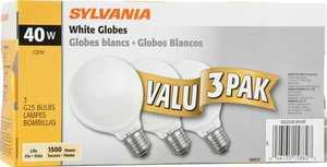 Sylvania/Osram/LEDVANCE 15882 40 Watt G25 Soft White Incandescent Bulb