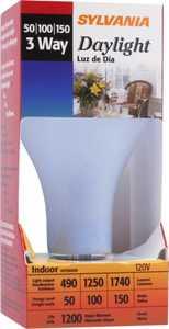 Sylvania/Osram/LEDVANCE 18110 50/100/150w Incandescent Bulb Daylight Reg Base