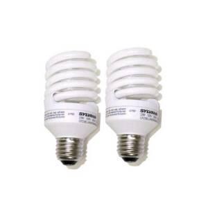 Sylvania/Osram/LEDVANCE 29729 23w Compact Fluorescent Bulb Cf2 3el/Micro/Mini/827 Sw 2pk