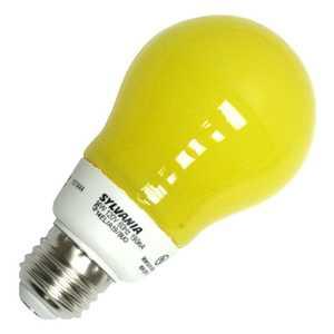 Sylvania/Osram/LEDVANCE 28958 14-Watt Yellow Bug Light A19 A-Line CFL Light Bulb