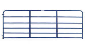 Tarter Farm and Ranch 6EB10 10 Ft Blue 6-Bar Economy Tube Gate With 1-3/4 In Steel Tubing