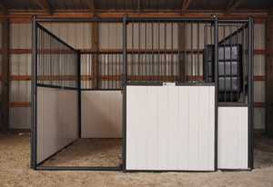 Tarter Farm and Ranch SF10 Stall Front 10 ft W/Sliding Door