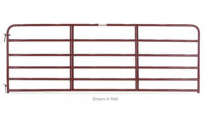 Tarter Farm and Ranch 6ER10 Gate Economy Red 10 ft 13/4 6-Bar 19Ga