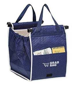 Telebrands 9224-6 Grab Bag Insulated Reusable Shopping Bag