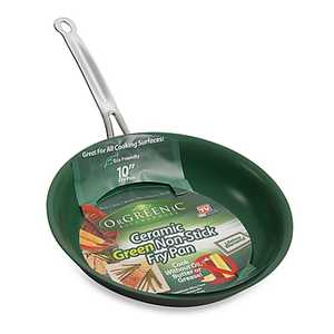 Telebrands 5827-6 10 In Orgeenic Cermamic Non Stick Frying Pan Green