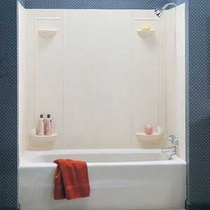 The Swan Corp. TF57 5 Pc. White Veritek Tub Wall Kit