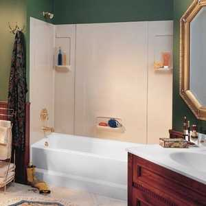 The Swan Corp. TW32 5 Pc. Glossy White Tub Wall Kit