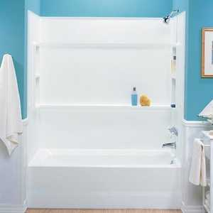 The Swan Corp. BA3060 Veritek White Direct-To-Stud Tub Wall Alcove