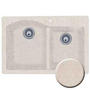 The Swan Corp. QZDB3322 Swanstone Granite Drop-In Kitchen Sink Granito