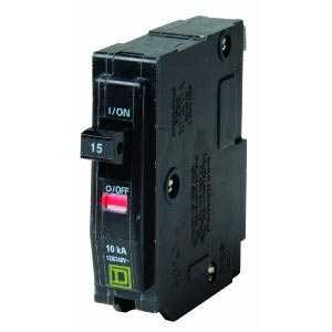 Square D QO115CP Qo Circuit Breaker Single Pole 15a Bulk