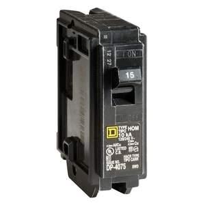 Square D HOM115CP Homeline 15-Amp Single Pole Plug-On Circuit Breaker