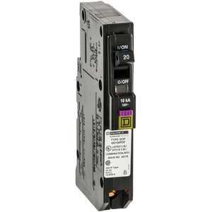 Square D QO120PDFC 20 Amp Single Pole Plug-On Neutral Dual Function Circuit Breaker