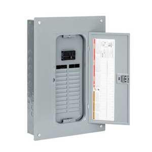 Square D QO124M100PC 100 Amp 24-Space 24-Circuit Indoor Main Breaker Load Center
