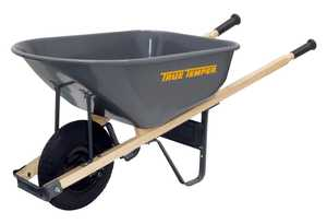 Ames/True Temper R6FF25 6 Cu. Ft. Steel Wheelbarrow With Never Flat Tire