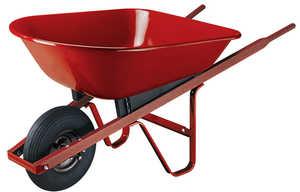 Ames/True Temper S4 4 Cu. Ft. Steel Wheelbarrow